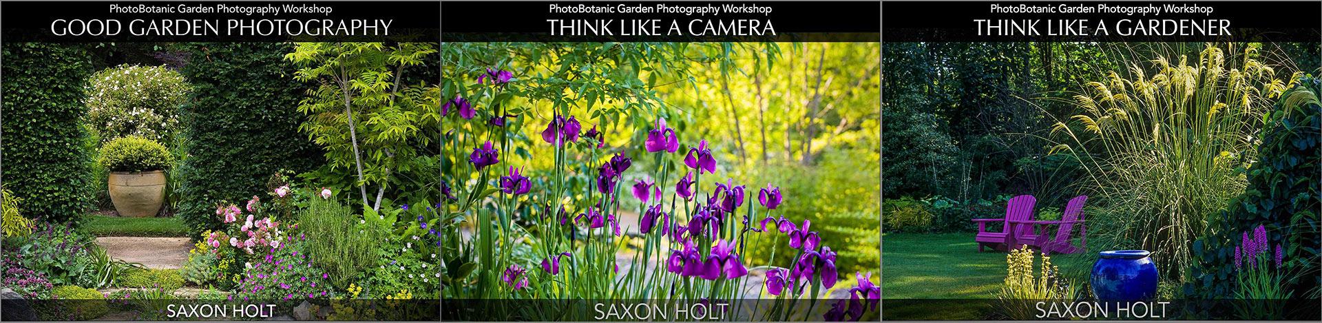 Composite 3 covers of PhotoBotanic Garden Photography Workshops