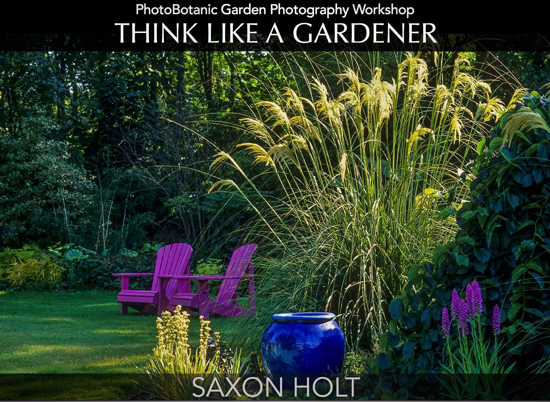 PhotoBotanic Garden Photography Workbook, Think Lke A Gardner eBook Cover