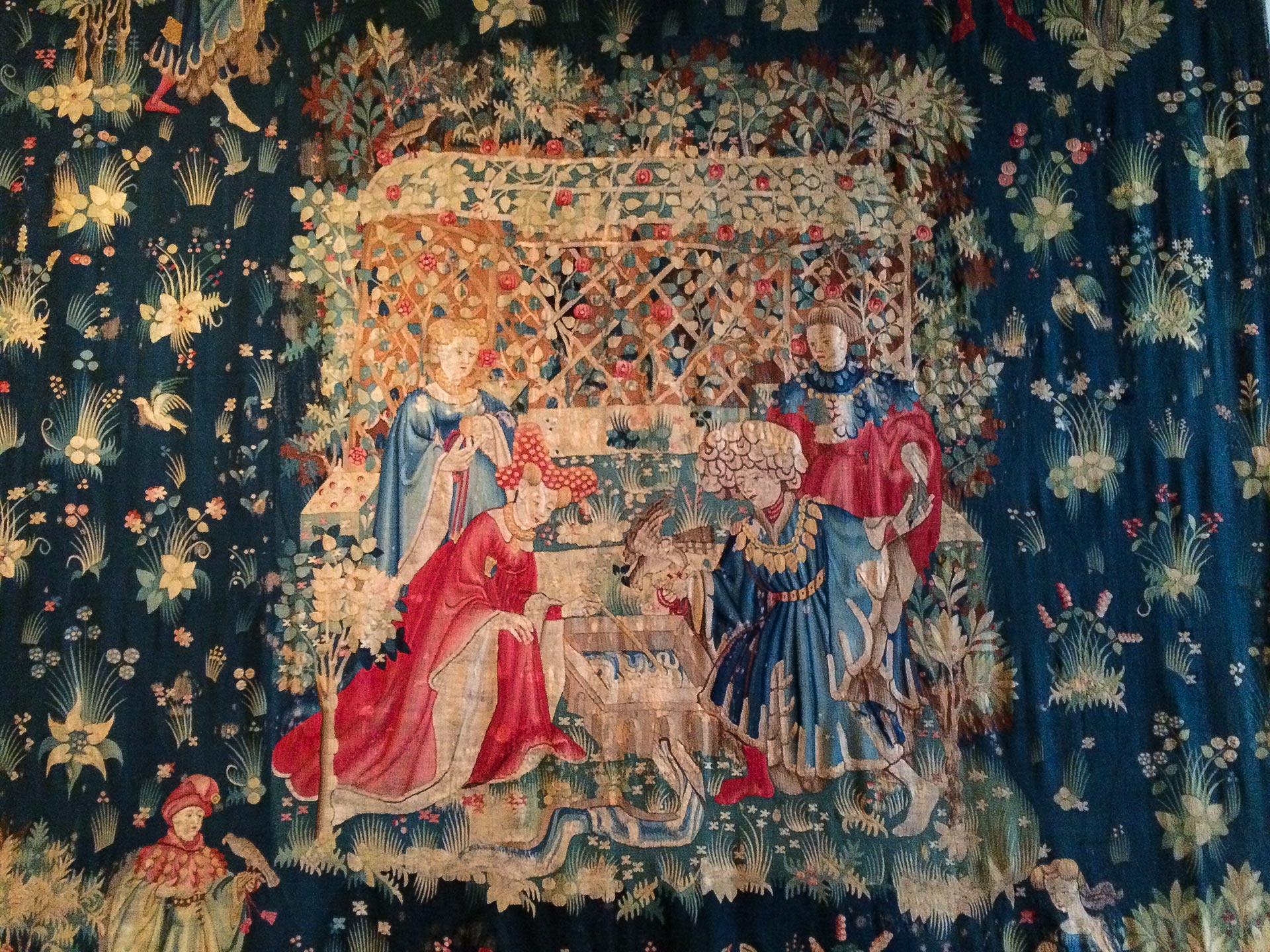 Tapestry - The Falcon's Bath, 1400, The Cloisters