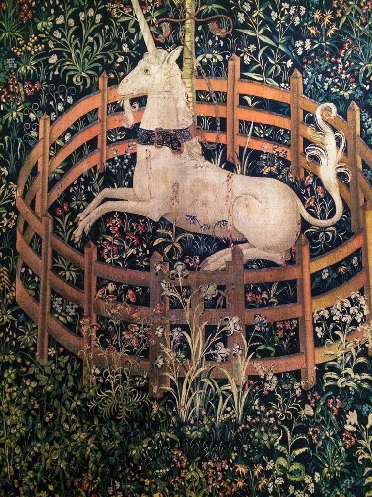 The Unicorn in Captivity, tapestry, The Cloisters